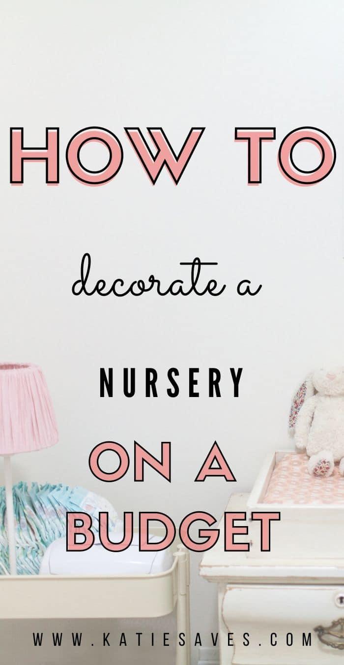 budget nursery diy