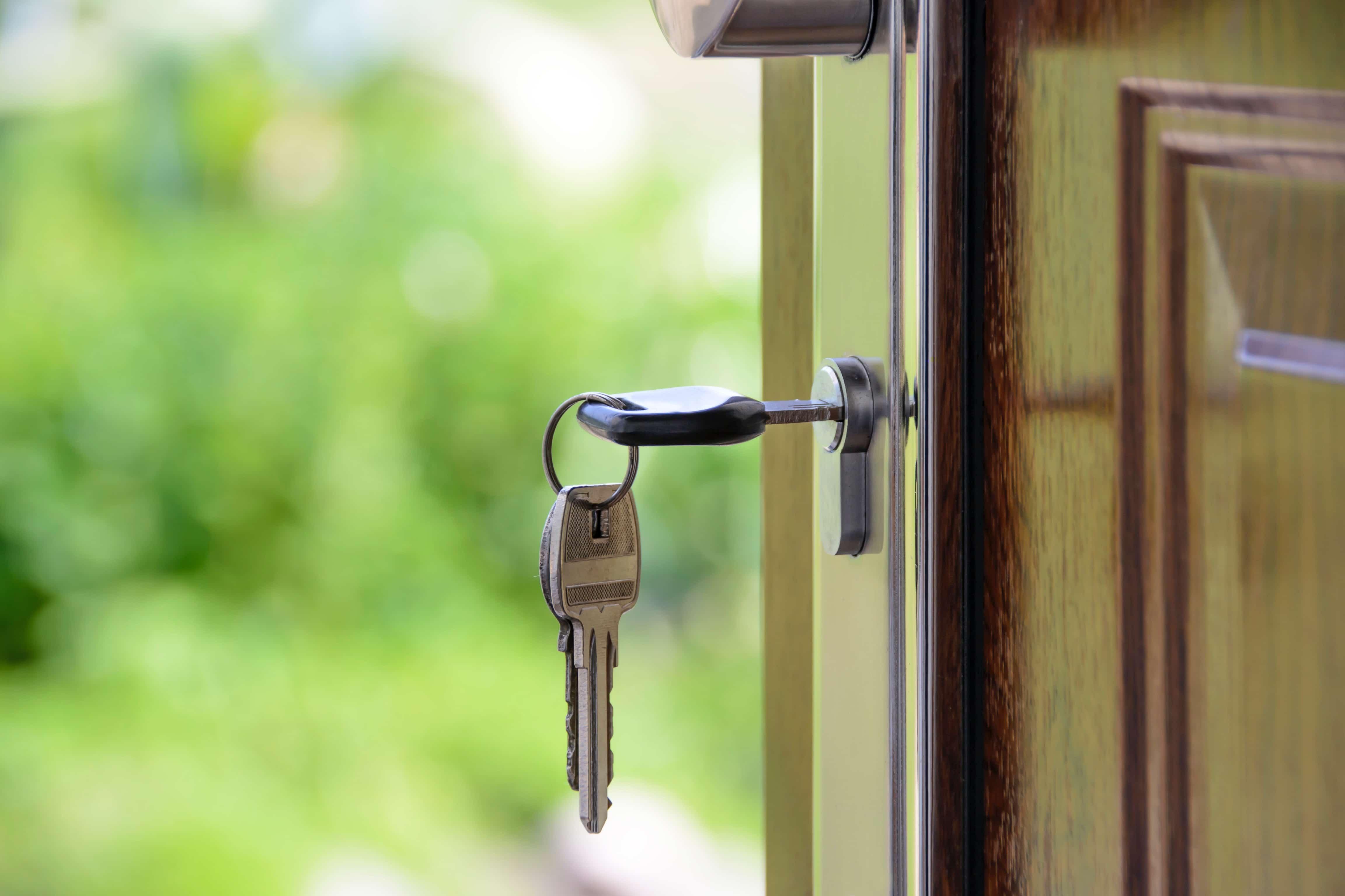 keys in door new home