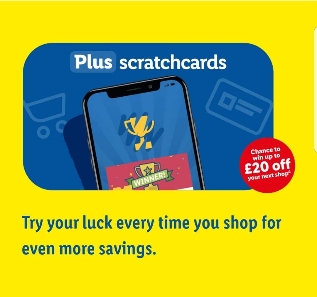 lidl plus app scratchcards